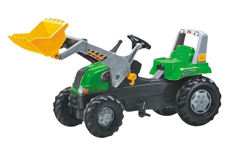 Rolly Toys - šlapací traktor s čelním nakladačem RT zelený