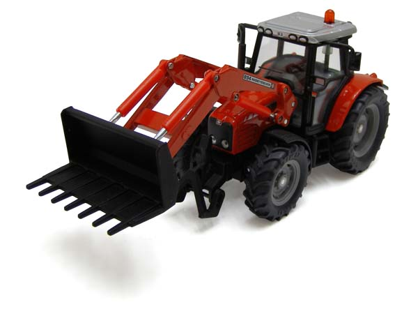 Siku - traktor Massey Ferguson 5455 s čelním nakladačem 1:32