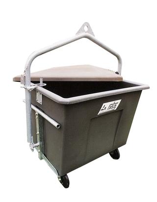 Kafilerní box na kolečkách na malá zvířata 600 l bez držáku pro jeřáb