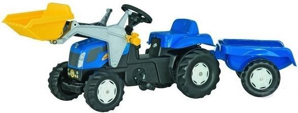 RollyKid - šlapací traktor New Holland TVT 190 s přívěsem a čelním nakladačem Rolly Toys