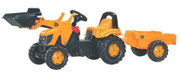 RollyKid - šlapací traktor JCB s přívěsem a čelním nakladačem Rolly Toys