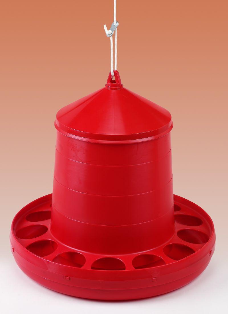 Závěsné krmítko plastové pro drůbež 8 kg