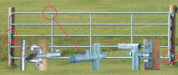 Kovová pastvinová brána délkově stavitelná 4 až 5 m