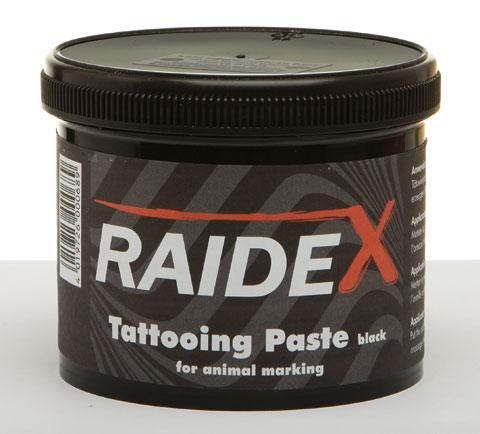Tetovací barva RAIDEX 600 g černá