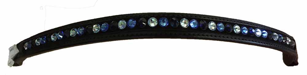 Ozdobná čelenka k uzdečce kožená v černé barvě Magic Tack délka 42 cm
