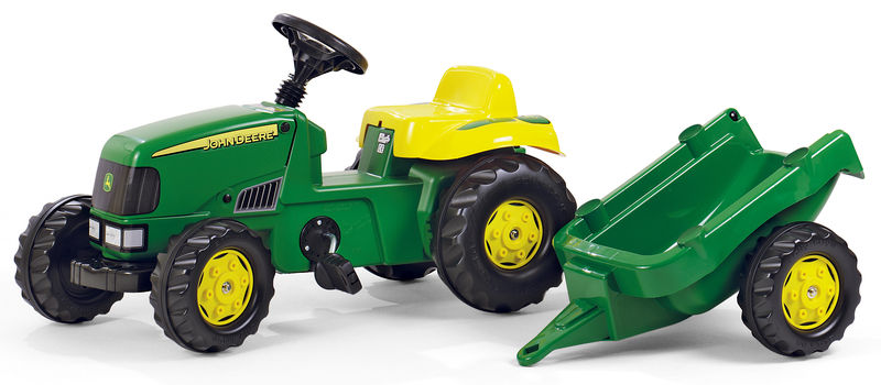 RollyKid - šlapací traktor John Deere s přívěsem