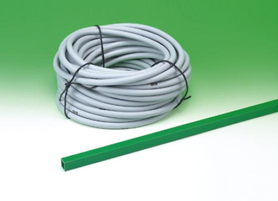 Ochranná PVC trubka na hadičky proti okusu k niplovým napáječkám 22 x 22 mm délka 2 m