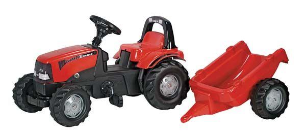 RollyKid - šlapací traktor Case s přívěsem Rolly Toys