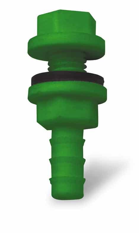 Redukce k tanku, vývod nádržky plastový pro niplové napájecí systémy 9 mm