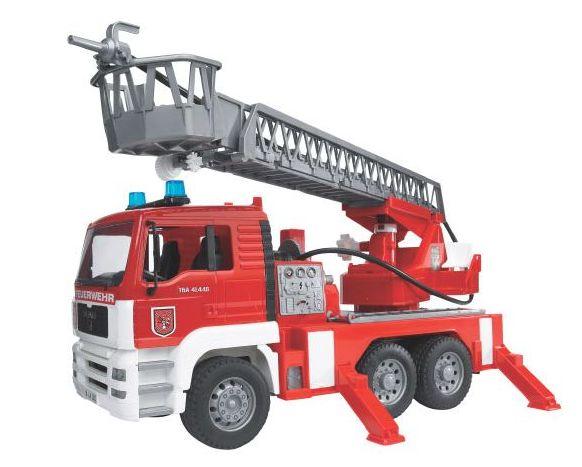Bruder - požární auto MAN s žebříkem