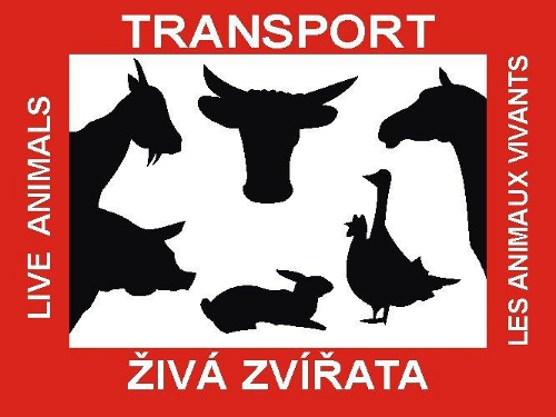 Tabulka pro přepravu zvířat 30x40 cm samolepka