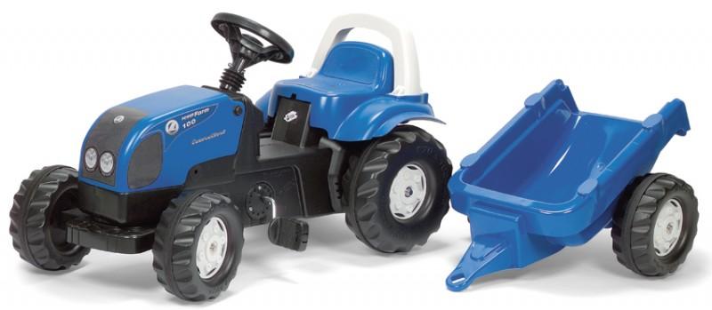 Rolly Toys - šlapací traktor Landini Powerfarm 100 s přívěsem