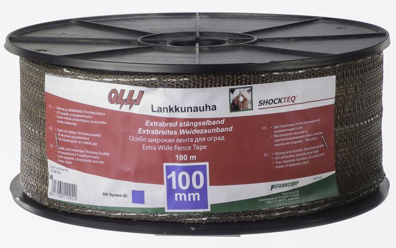 Extra široká páska Shockteq Olli 100 mm/100 m pro elektrický ohradník