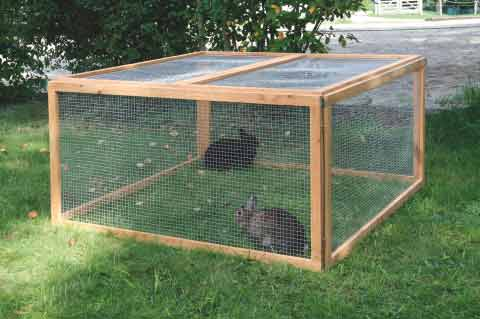 Výběhy pro králíky