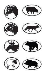 Olli 950 Koně, dobytek, vlk, medvěd, ovce, vysoká zvěř