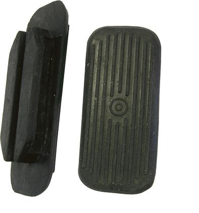 Vložka gumová do třmenů černá rovná - pár velikost 12