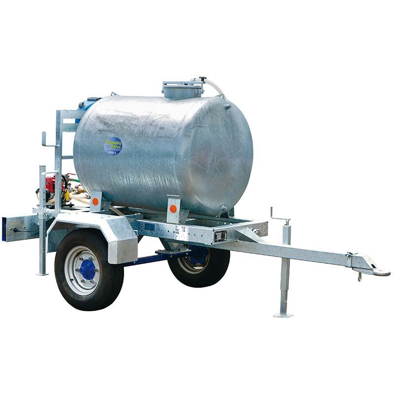 Cisterna na vodu za traktor na pastvu Pasdelou 890 l zinkovaná s čerpadlem a hadicí