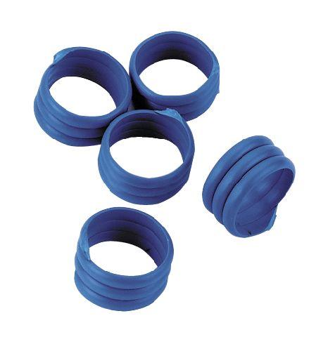 Spirálové kroužky na husy a krůty 18 mm modrý 20 ks