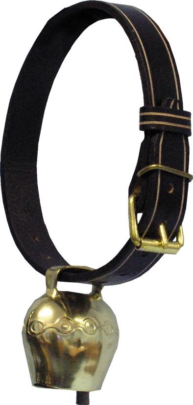 Řemen k pastevním zvoncům kožený zdobený 47 mm x 125 cm