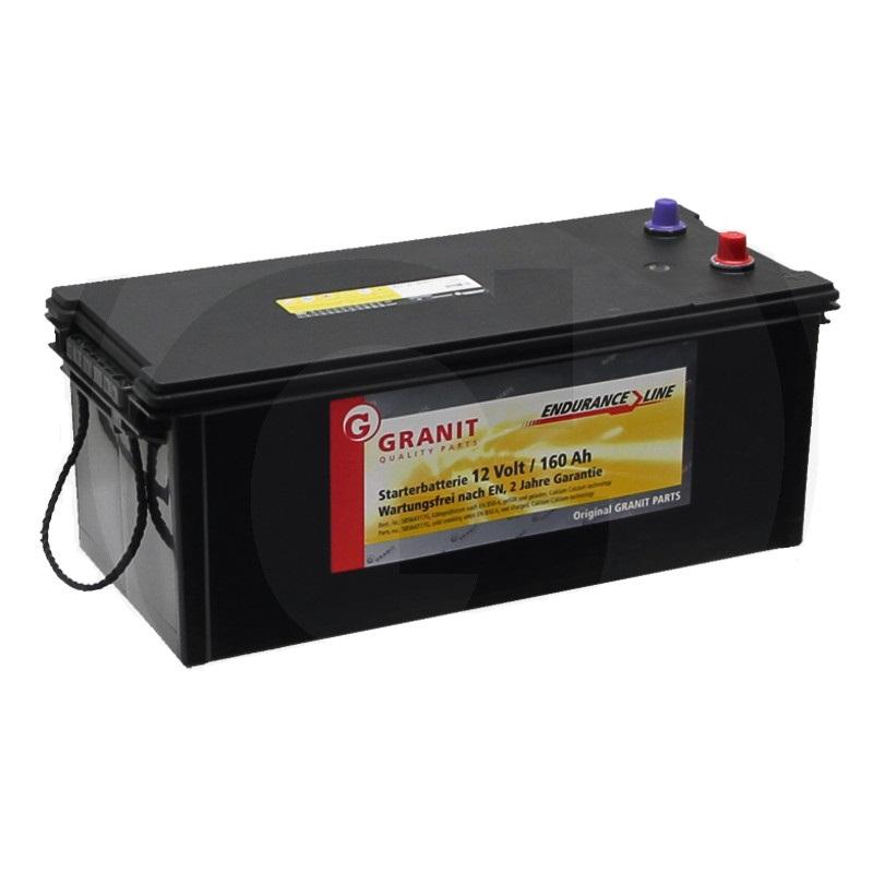 Auto baterie Granit Endurance Line 12V / 160 Ah, patice B00 pro Case IH, Deutz-Fahr, Fiat