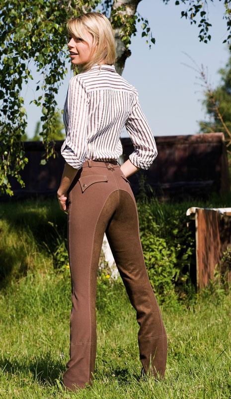 Dámské jezdecké kalhoty Equi-Theme Köln barva čokoládová velikost 36