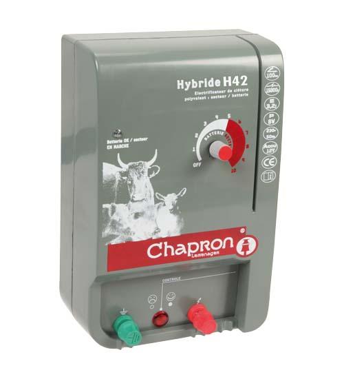 Chapron HYBRIDE H42 kombinovaný zdroj napětí pro elektrický ohradník s regulací, 4,25J