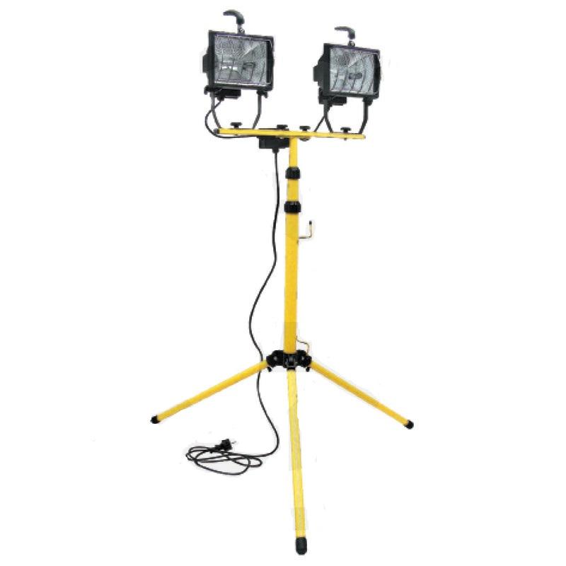 2 halogenové pracovní reflektory 500W s výškově nastavitelným stojanem až 2 m