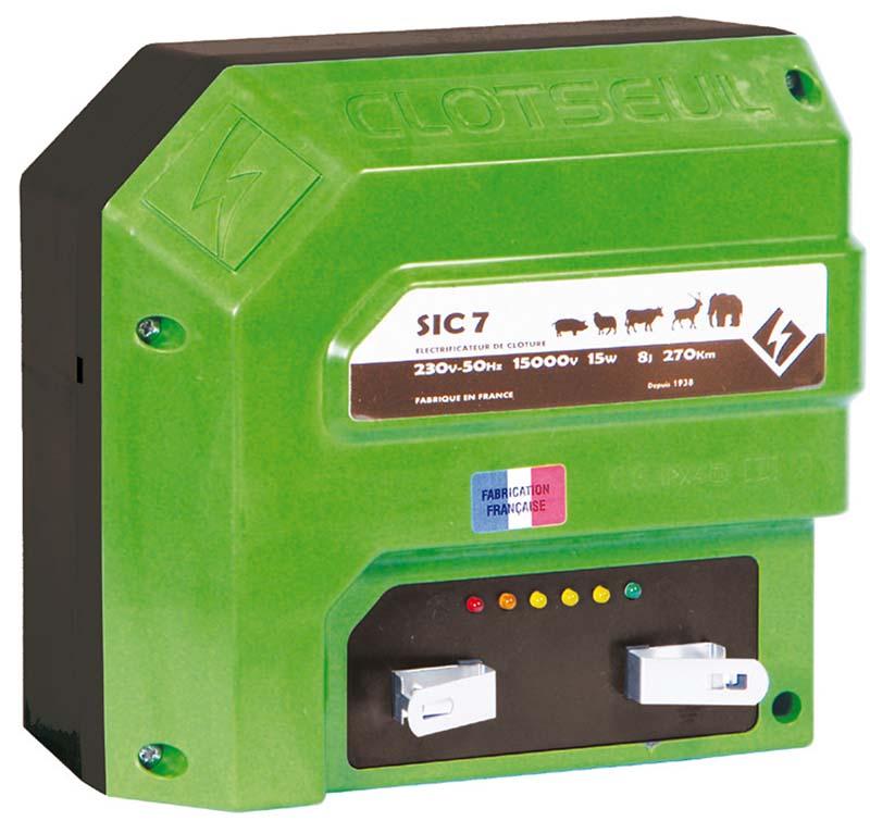 CLOTSEUL SIC 7 silný síťový 230V zdroj napětí pro elektrický ohradník, 5J