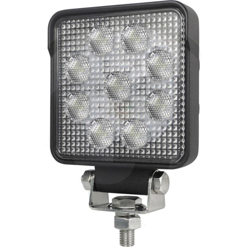LED pracovní světlomet hranatý 9 High Performance LEDs 12V a 24V 1500 Lumen