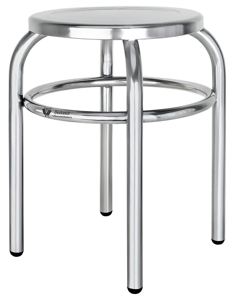 Nerezová stolička Beeketal BEH-30 390 x 390 x 430 mm do gastro provozů zatížení až 125 kg