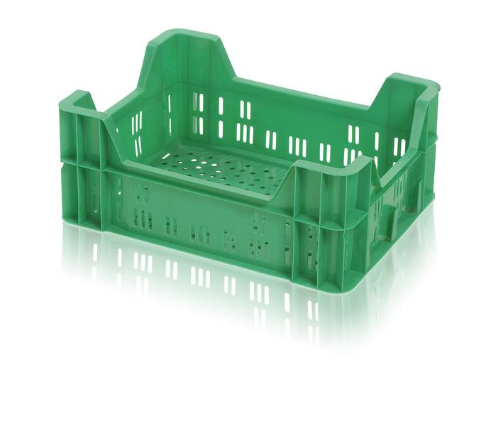 Plastová přepravka na ovoce a zeleninu malá nosnost 7 kg