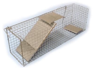 Sklopec na kuny, tchoře a kočky zesílený 1 sklopná dvířka 820 x 200 x 270 mm