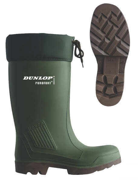 Teplé holínky Dunlop Thermoflex s ocelovou špičkou velikost 46