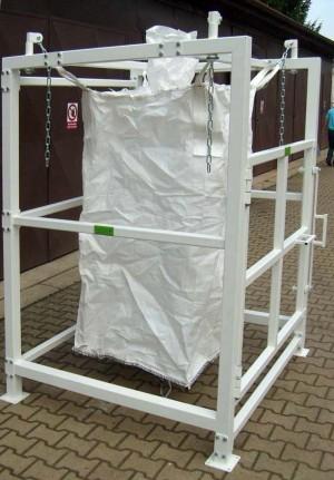 Big bag plnící stanice, násypka pro bigbag
