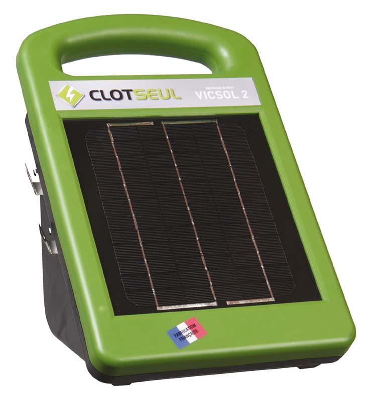 CLOTSEUL VICSOL 2 solární 12V zdroj napětí pro elektrický ohradník, 0,25J