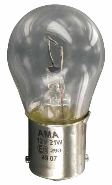 Auto žárovka 12V 21W, patice BA 15s pro zpětná, brzdová, směrová a mlhová světla