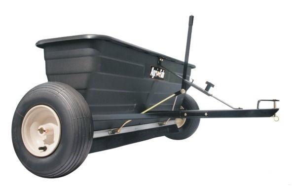 Tažené zahradní rozmetadlo hnojiv Agri-Fab na 80 kg za čtyřkolku, zahradní traktor