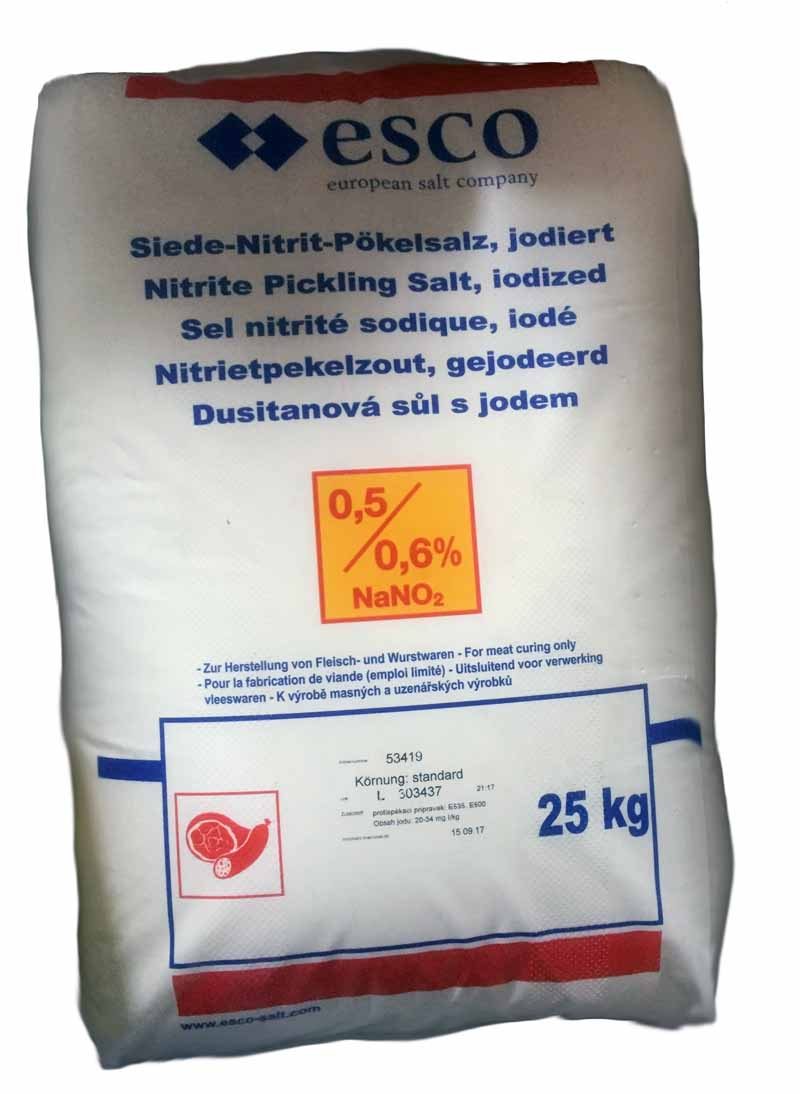 Řeznická sůl nakládací dusitanová ESCO 25 kg