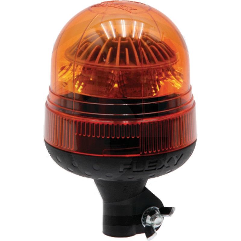 LED maják oranžový výstražný 12V/24V 40 LED diod přepnutí blikání a maják