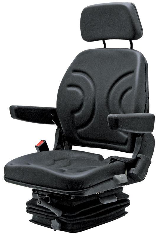 Traktorová sedačka Granit mechanicky odpružená koženkový potah s pásem