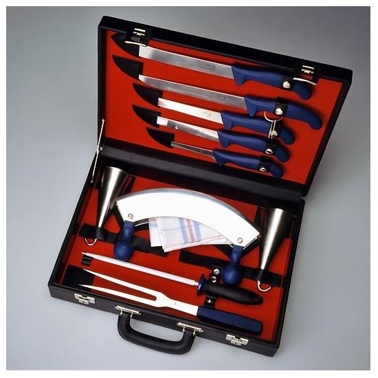 Sada řeznických nožů vhodná pro zabijačky – kufřík velký