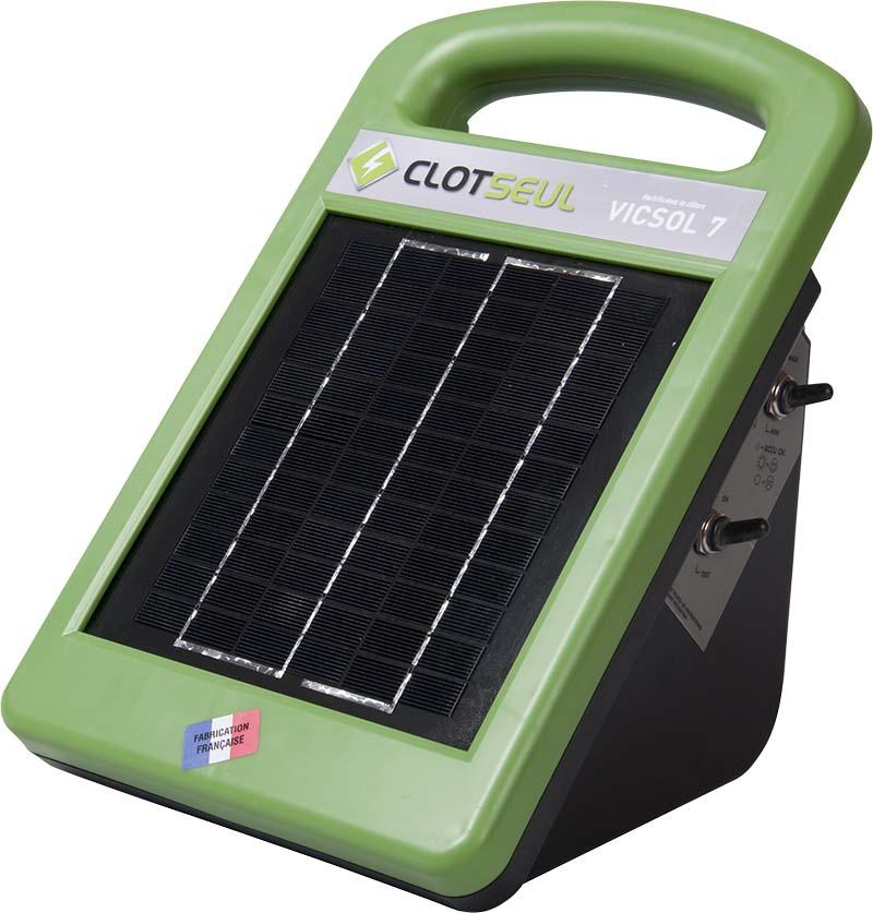 CLOTSEUL VICSOL 7 solární 12V zdroj napětí pro elektrický ohradník, 0,7J