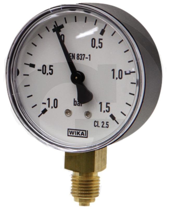 Vakuový tlakoměr pro fekální vozy přípoj dolní 1/4″