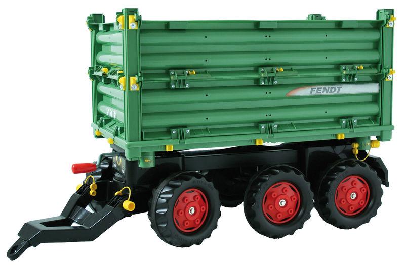 Rolly Toys - třístranný sklápěč Fendt za šlapací traktory a nakladače zelený