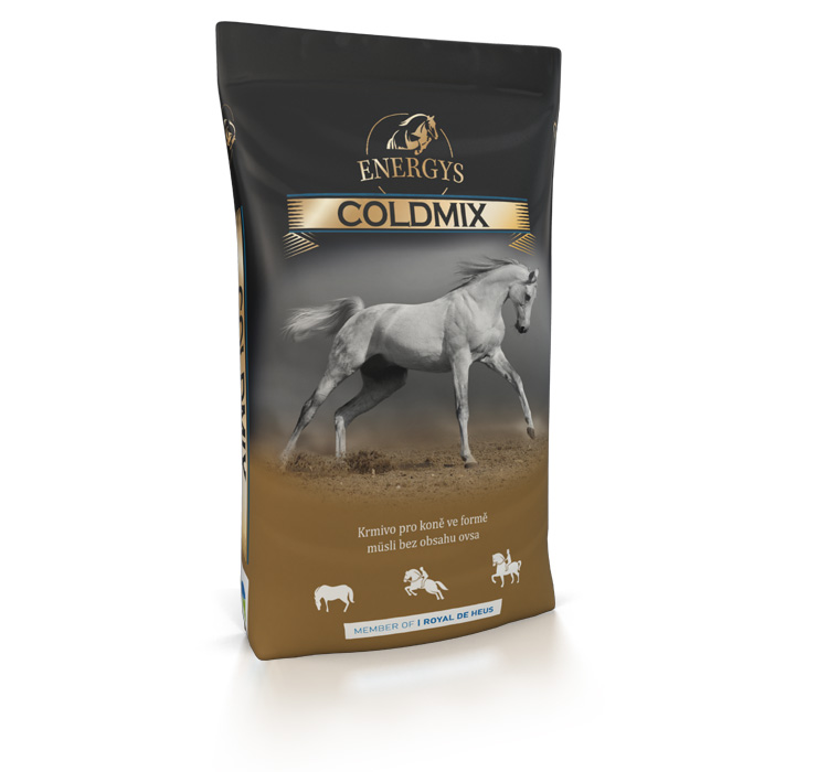 ENERGYS® Premium Coldmix 20 kg müsli bez ovsa pro koně, krmivo ve formě müsli