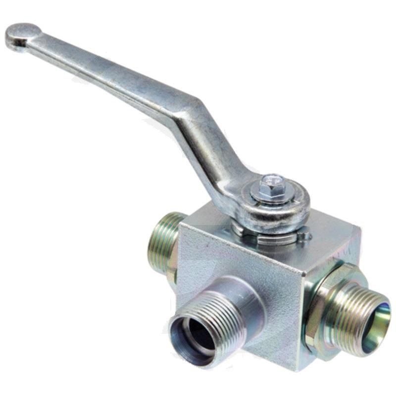 Hydraulický kulový kohout 3-cestný s L-vývrtem pro trubku BKHL 10 LK