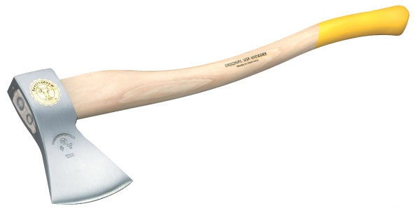 Sekera rýnská zlatá Ochsenkopf hlava 1600g topůrko hickory 80 cm čepel 125 mm
