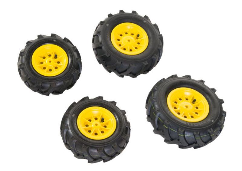 Rolly Toys - pneumatiky plněné vzduchem žluté pro rollyFarmtrac