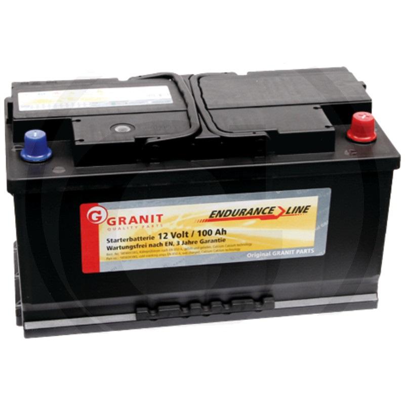 Autobaterie 12V 100Ah Granit bezúdržbová do auta, traktoru startovací proud 850A, 0/1