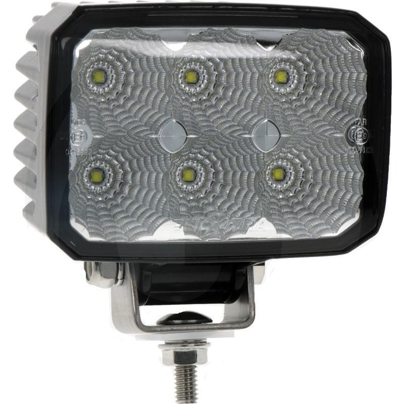 LED pracovní světlomet Beam hranatý 6 High Performance LEDs 12V a 24V 1000 Lumen